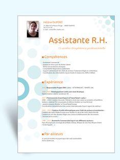 Modèle CV original Assistante RH