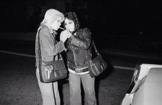 Cherie Currie and Joan Jett The Runaways Pop Punk, Marie Currie, Sandy West, Lita Ford, Peter Criss, Women Of Rock, Glam Metal, Joan Jett, Running Away