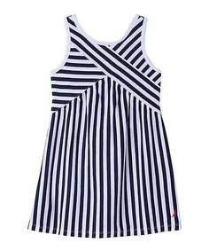 Little Girls' Striped Criss Cross Top Dress Toddler Girl Outfits, Toddler Girls, Criss Cross Top, Kids Tops, Girls 4, Athletic Tank Tops, Kids Fashion, Clothes, Chambray Dress