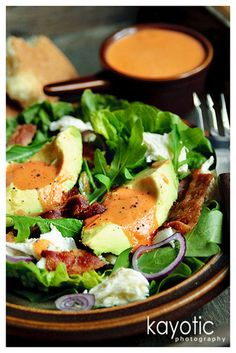 Summer Salad with Tomato Dressing