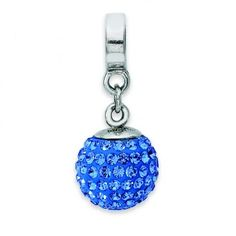 Sterling Silver Reflections Sept Swarovski Elements Ball Dangle Bead