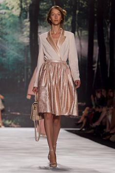 A look from the Badgley Mischka Spring 2013 RTW collection.