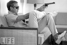 Steve McQueen for Life Magazine. Vintage, black and white photography