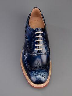 men style, churches, church shoes, blue shoes, men shoes, fashion looks, church downish, church's shoes, churchs shoes