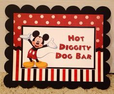 PRINTED Mickey Minnie Mouse Clubhouse Birthday Party Food Station Sign on Etsy, $5.00
