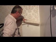 Wallpapering a feature wall Decorating Tips, Avon, Door Handles, Beauty Products, Home Improvement, Decor Ideas, Wallpaper, Building, Youtube