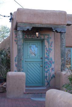 entrance in Santa Fe