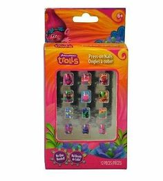 12 piece Cute and Colourful Press-on TROLLS Nail Set for Kids. Fake Nails For Kids, Nail Set, Press On Nails, Manicure And Pedicure, Nail Care, Troll, New Outfits, Acrylic Nails, Online Shopping