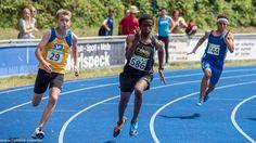 200m Sprint der Männer bei der Leichtathletik Bayerische Meisterschaften 2016 in Erding