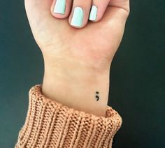 All About My Semicolon Tattoo
