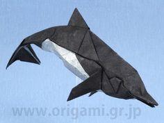 Origami dolphin by Fumiaki Kawahata - Part 1 - YouTube.