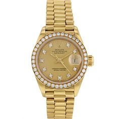 Montre Rolex Oyster Perpetual Datejust en or jaune Vers  1987