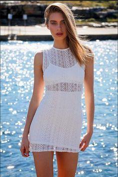 Sexy lace sleeveless dress 1609BT