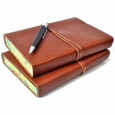 Personalized Roma Lussa Leather Journal Jenni Bick Bookbinding
