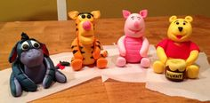 Winnie the Pooh and friends -- fondant characters