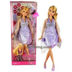 Year 2007 Barbie Fashion Fever Series 12 Inch Doll - SUMMER in Glittering Lavender Dress with Shawl Wrap, Purse and Hairbrush Fever Series, New Barbie Dolls, Dress With Shawl, Lavender Dresses, Hairbrush, Barbie Patterns, Barbie Collection, Om, Princess Zelda