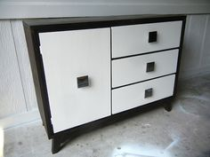 refinished mid-century buffet