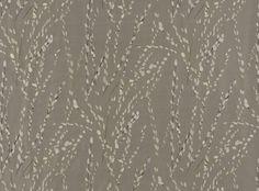 Mikado Embroidery Platinum - Licia : Romo Designer Fabrics & Wallcoverings, Upholstery Fabrics
