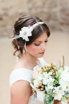 16 Soft and Elegant Hairstyles, Wedding Hair & Beauty Photos by Beauty and the Beach - Image 5 of 16