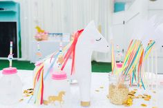 Unicorn Party ideas! Love how bright and colorful this is!