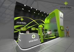 SmartLabs, exhibition stand on Behance