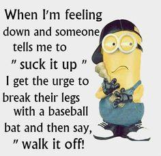 Walk it off. Chronic Pain, Fibromyalgia, Minions, Pots, The Minions, Jars, Minions Love, Pottery, Minion Stuff
