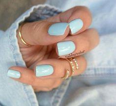 Love the baby blue!! fall nail colors gel polish nail design