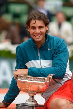 Rafa Nadal makes sporting history in winning the 2013 French Open, by becoming the first person ever to win eight times in the same major tournament.