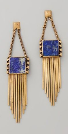 A Peace Treaty lapis earrings Gold Jewelry, Jewelry Box, Jewelry Accessories, Fashion Accessories, Jewelry Design, Fashion Jewelry, Gold Earrings, Statement Earrings, Art Deco Earrings