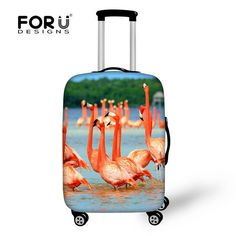 Baggage Covers Watercolor Coral Octopus Washable Protective Case