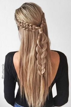 63 Amazing Braid Hairstyles for Party and Holidays ★ Beautiful Crowned Hairstyles for Long Hair Picture 5 ★ See more: http://glaminati.com/christmas-party-braid-hairstyles/ #christmashair #winterhair #braidhairstyle