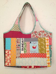 Scrappy tote. Love this!