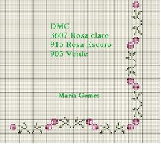 Maria Gomes: Os Meus Gráficos de Ponto Cruz Cross Stitch Boarders, Cross Stitch Rose, Cross Stitch Flowers, Christmas Decorations, Bullet Journal, Diy Projects, Embroidery, Crochet, Gardening