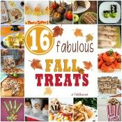 "16 Fabulous Fall Treats at Tidy Mom.net- I love Tidy Mom, this link points back to her all her content with a ""fall"" tag"
