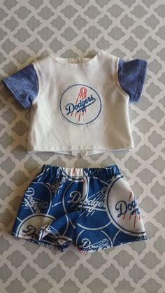 Custom Order for Bertha ONLY! Bitty Baby Dodgers Tee and Skirt! by CreativelyEllie on Etsy
