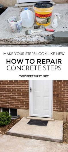 Make your steps look like new. How to repair concrete steps.