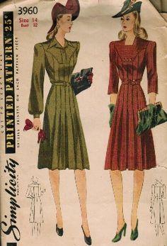 Vintage Fashion Library - WW2/Swing 1940s