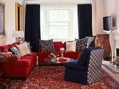 red couch with rug - Google Search