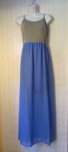 ULTRA FLIRT, Blue and Grey Maxi Dress, Size M #UltraFlirt #Maxi #Festive