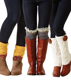 DIY Upcycle Leg Warmers on Joann Fabrics website -jlw Sweater Pillow, Old Sweater, Botas Boho, Pullover Upcycling, Alter Pullover, Diy Accessoires, Recycled Sweaters, Diy Couture, Boot Socks