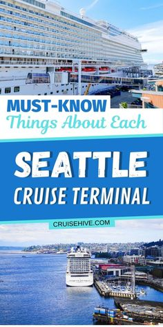 Must know things about each Seattle cruise terminal with travel tips for your cruise vacation from the state of Washington. Best Cruise, Cruise Port, Cruise Travel, Cruise Vacation, Vacation Deals, Cruise Ships, Travel Deals, Vacations, Holland America Cruises