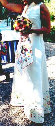 Vestidos de noiva com bordados minhotos