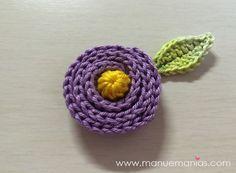 PAP - FLOR DO CAMPO p/aplicação - интересный цветок, связаный по спирали