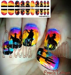 """20 Western Nail Decals from the Freeda Latham """" Signature Collection """""""