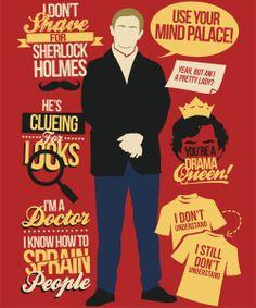 Clueing for Looks Sherlock Poster, Sherlock Fandom, Sherlock John, Sherlock Bbc Quotes, Bbc Sherlock Holmes, Sherlock Series, Watson Sherlock, Jim Moriarty, Sherlock Shirt