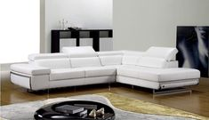 Bart Sectional Sofa in Lavender Leather by Beverly Hills