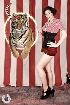 circus dress code: bring a tiger and a hoop!