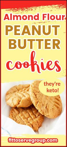 These almond flour peanut butter cookies are flat-out delicious and also happen to be keto-friendly. Using almond makes these low carb peanut butter cookies, gluten-free, sugar-free, grain-free, and keto-friendly. It makes the easiest, tastiest peanut butter almond flour cookies. keto peanut butter cookies| low carb peanut butter cookies| almond flour peanut butter cookies Keto Peanut Butter Cookies, Sugar Free Cookies, Low Carb Peanut Butter, Keto Cookies, Peanut Flour, Cake Cookies, Low Carb Sweets, Low Carb Desserts, Low Carb Recipes