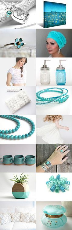 Turquoise by Marukasa on Etsy--Pinned+with+TreasuryPin.com