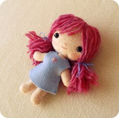 Doll pdf Pattern Doll Pattern Plush Doll Easy by Gingermelon Images Kawaii, Doll Patterns Free, Bead Patterns, Craft Patterns, Clothes Patterns, Newborn Baby Dolls, Plush Pattern, Diy Doll Pattern, Barbie